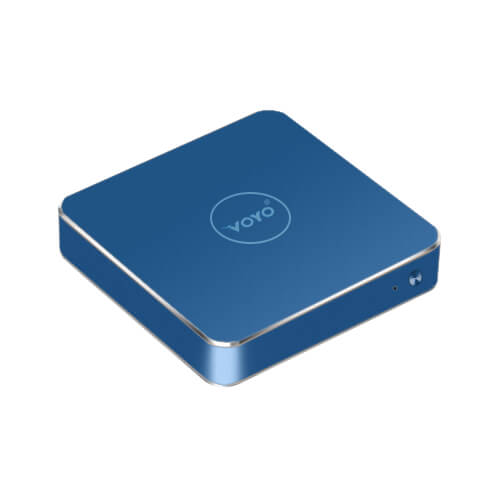 italiaunix-VOYO VMac (V1) Mini PC Licensed Windows 10.1 64bit Intel Apollo Lake Pentium N4200 4GB DDR3L 120GB SSD 4K 2.4G WIFI Gigabit LAN LibreELEC - Blue