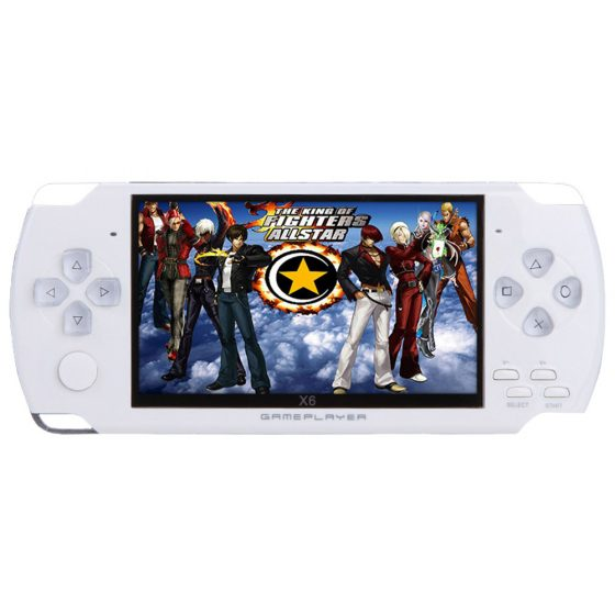 italiaunix-X6 Handheld Game Console Real 8GB Memory 4.3 Inch Portable Video Game Built in 400 Free Games - White