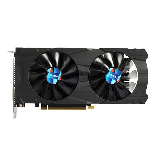 italiaunix-Yeston NVIDIA Geforce GTX1050Ti 4GD5 128Bit Desktop Gaming Graphics Card Dual Fans With HDMI DVI DP Interface - Black