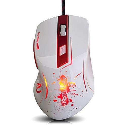 italiaunix-Ajazz AJ100 Wired PRO Gaming Mouse Ergonomic Laser Engine Adjustable 100-8200DPI 6 Intelligent Programmable Buttons 16 Million Colors - White