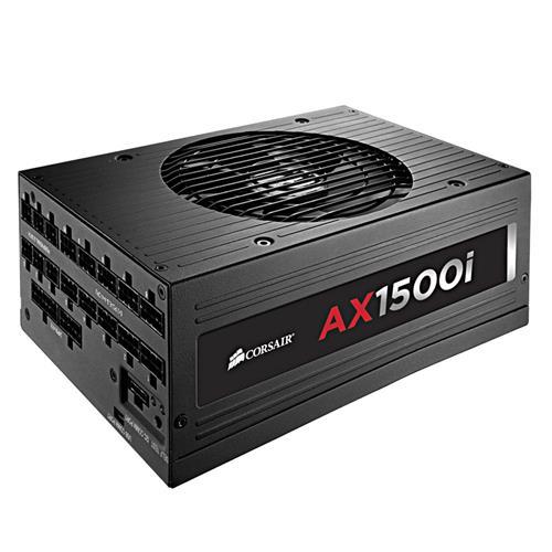 italiaunix-CORSAIR AX1500i 1500W Power Supply Fully Modular Digital 80 Plus Titanium Certified - Black