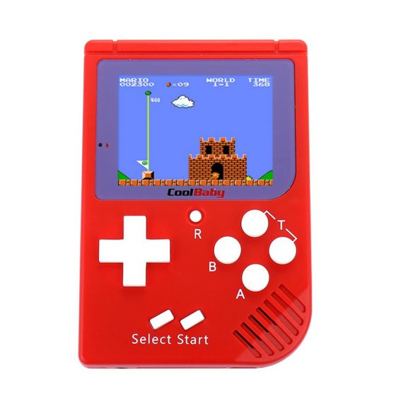 italiaunix-Coolbaby RS-6 Mini Retro Handheld Game Console 2.5 inch LCD Built-in 129 Games - Red