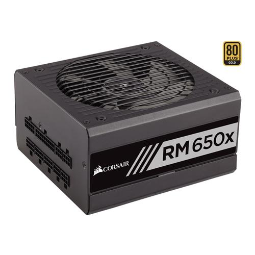 italiaunix-Corsair RM650x 650W  Fully Modular Power Supply 80 Plus Gold Certified - Black