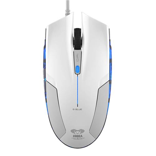 italiaunix-E-3LUE EMS109 1600DPI 6 Keys LED Optical Wired Gaming Mouse for Home / Office - White