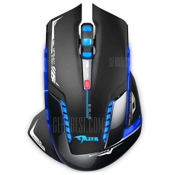 italiaunix-E - 3LUE EMS601 Wireless LED Flashing Optical Gaming Mouse