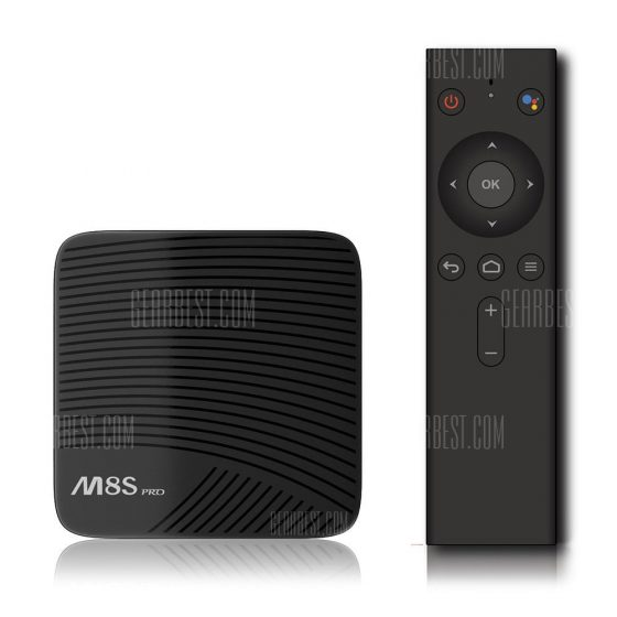 italiaunix-MECOOL M8S PRO Android TV OS  with Voice Control 2GB DDR4 + 16GB ROM  Gearbest