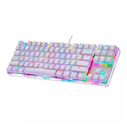 italiaunix-Motospeed K87S Wired Mechanical Keyboard with RGB Backlight for Gaming - BLUE SWITCH WHITE
