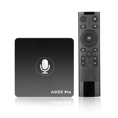 italiaunix-Nexbox A95X Pro Android TV OS 2GB/16GB Netflix 720P Youtube 4K Amlogic S905W 4K TV Box with Voice Remote 2.4G WiFi LAN