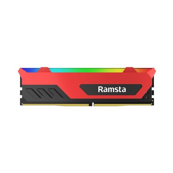 italiaunix-Ramsta RGB light 8GB DDR4 Memory Bank 3200MHz Computer Accessory Gamer Module For Desktop 2PCS - Red