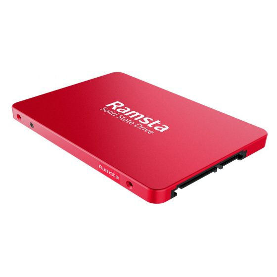 italiaunix-Ramsta S600 480GB SATA3 High Speed SSD Solid State Drive Hard Disk 2.5 Inch - Red