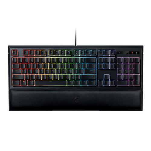 italiaunix-Razer Ornata Chroma Wired Membrane RGB Gaming Keyboard With Individually Backlit Keys Mid-Height Keycaps Wrist - Black