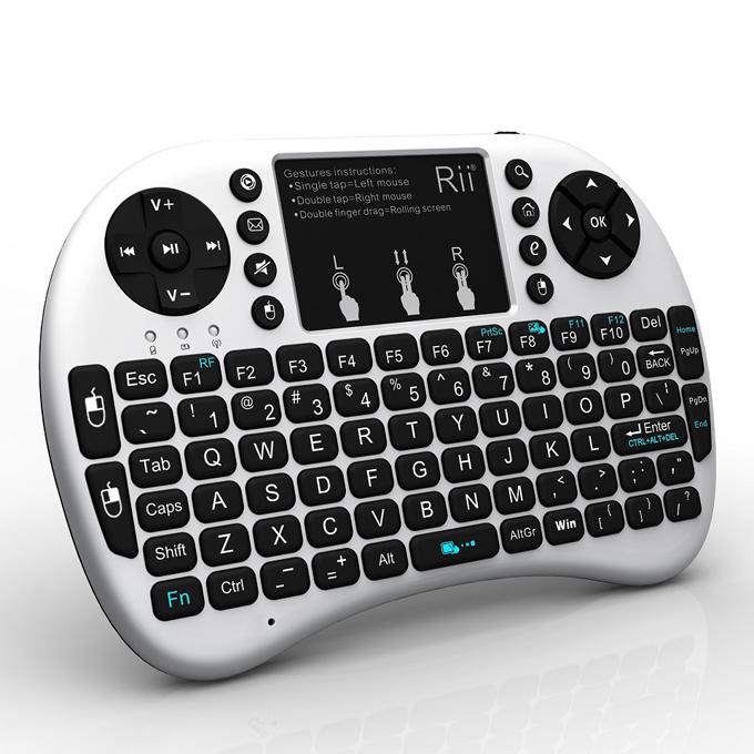 italiaunix-Rii i8+ 2.4G Wireless Keyboard for Smart TV