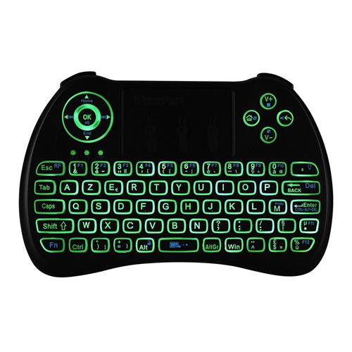 italiaunix-iPazzport KP-810-21Q Mini 2.4G Wireless Keyboard with Touchpad 3-color Backlight - French version Black