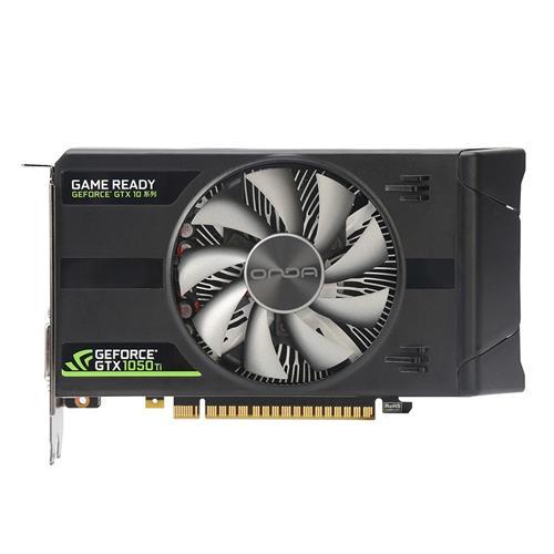 italiaunix-Onda NVIDIA GeForce GTX 1050Ti Model 4GD5 4GB DDR5 128bit Independent Desktop Gaming Graphics Card For HDMI VGA DVI Port Durable - Black