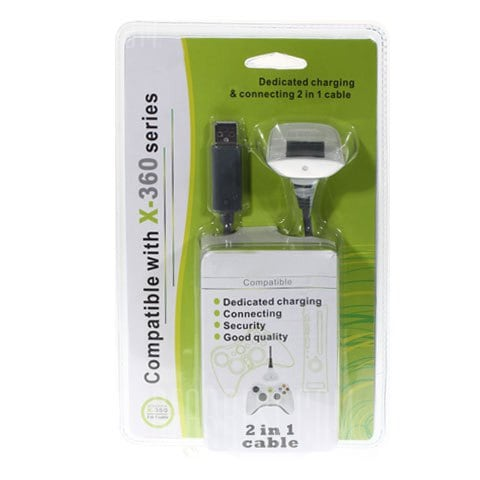 italiaunix-Play and Charge USB Cable for Xbox 360 Wireless Controllers