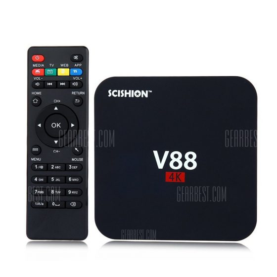 italiaunix-SCISHION V88 TV Box Rockchip 3229 Quad Core  Gearbest