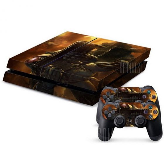 italiaunix-Starcraft Pattern Style Game Console Gamepad Full Body Sticker for PS4