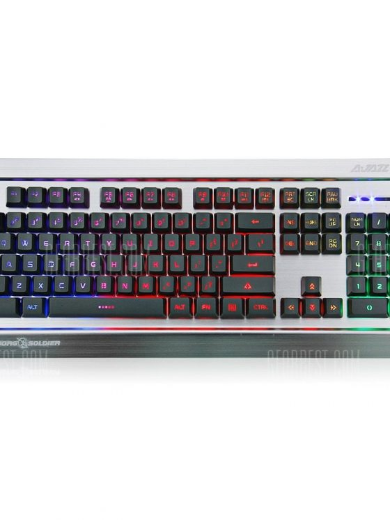 italiaunix-Ajazz AK27 Mechanical Feeling Keyboard with Breathing Light for LOL