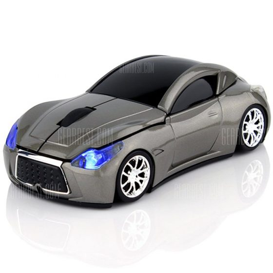italiaunix-New Fashion Sports Car 2.4GHz Wireless Mouse 1600DPI Optical Gaming Mouse Mice for Computer PC