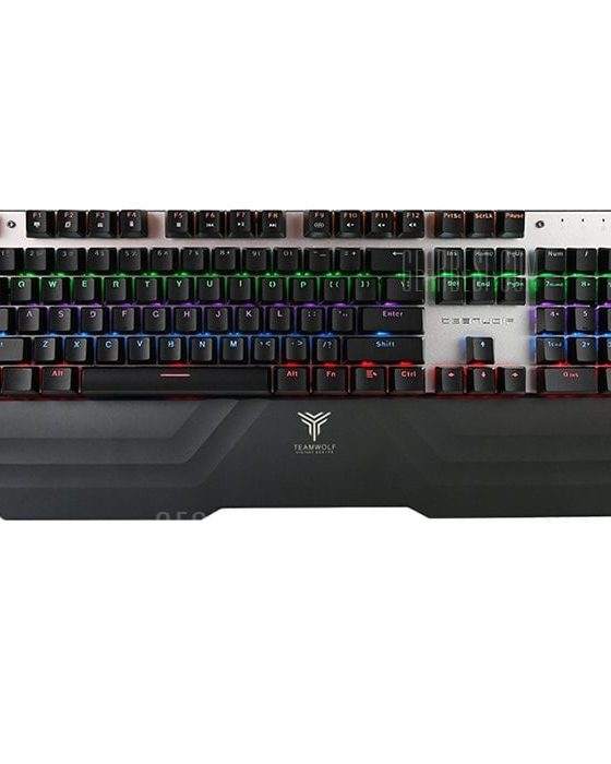 italiaunix-TEAMWOLF X20W 2.4G Wireless / USB Wired Gaming Mechanical Keyboard