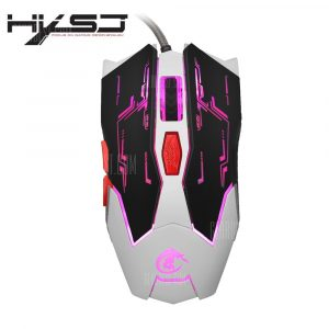 italiaunix-HXSJ X100 Wired LED Game Mouse with Six Buttons
