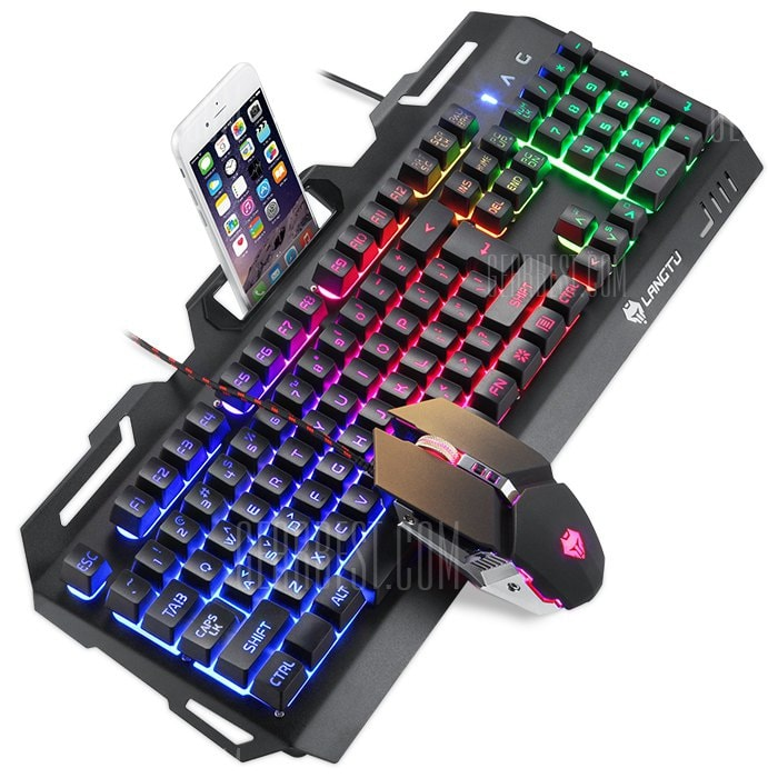 italiaunix-LANGTU K006 Mechanical Feel Gaming Keyboard RGB  Gearbest