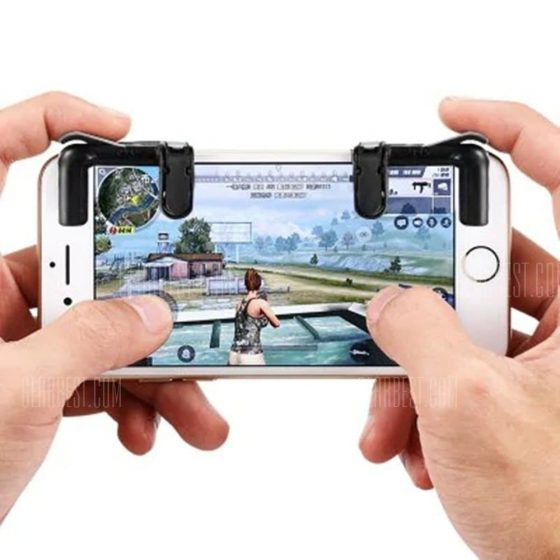 italiaunix-Smart Phone Shooter Controller Mobile Game Fire Button Aim Key Accurate 2PCS