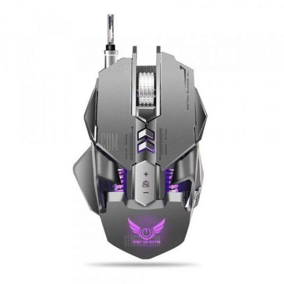 italiaunix-ZERODATE X300GY Mouse da gioco cablato con DPI regolabile