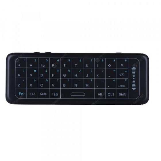 italiaunix-2.4GHz Mini Italy Keyboard Air Mouse with 7colors Backlight TouchPad IR Learning