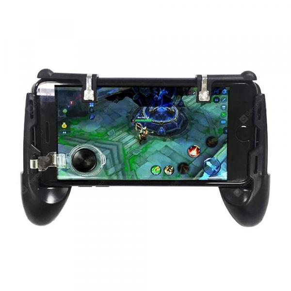 italiaunix-3 in 1 Mobile Game Trigger Controller Fire Button Aim Key Joystick with Gamepad