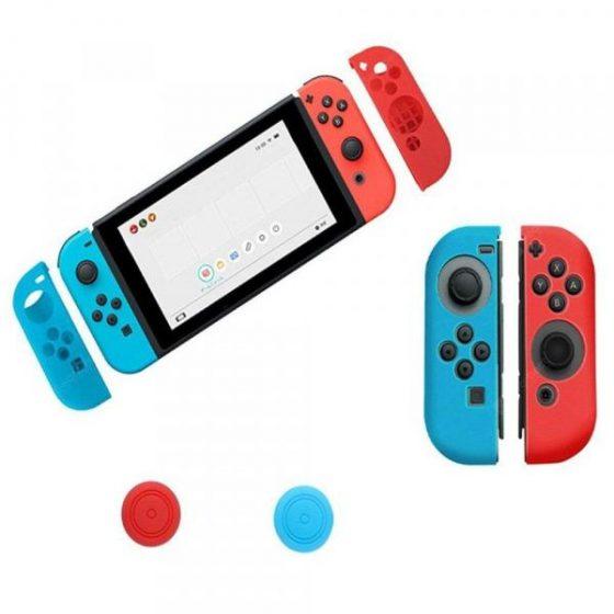 italiaunix-Anti-Slip Silicone Joy Con Gel Guards Skin Cover  with Thumb Stick Caps for Nintendo Switch Joy Con Controller