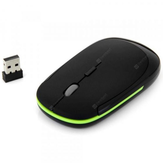 italiaunix-E10 Professional Slim 2.4GHz 1600DPI Wireless Optical Mouse for Home Office