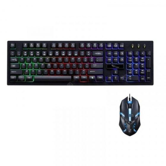 italiaunix-G20 Wired USB PC Gamer Suspension Mechanical Feel Keyboard And Mouse Set