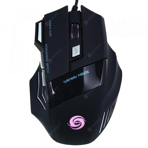 italiaunix-JWFY USB Wired Gaming Mouse Seven Buttons Support 5500DPI Resolution with LED