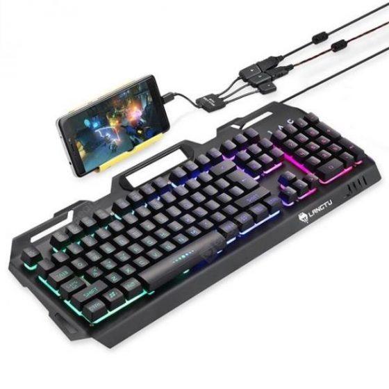 italiaunix-LANGTU K006 Mechanical Feel Gaming Keyboard RGB