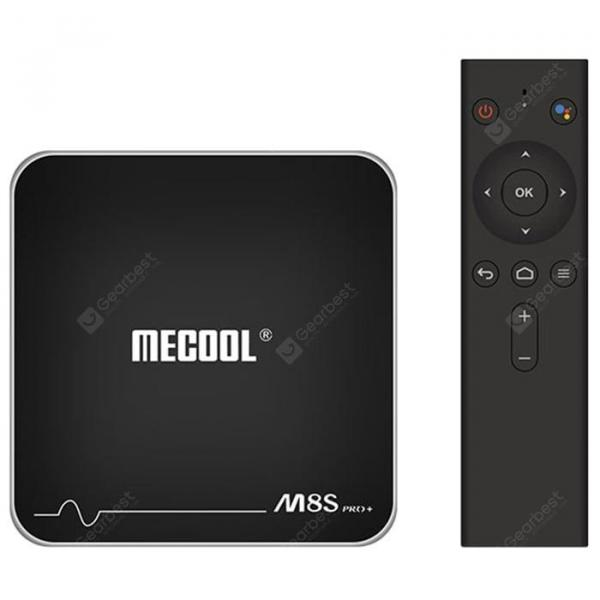italiaunix-MECOOL M8S PRO+ Android TV OS TV Box with Voice Remote Control