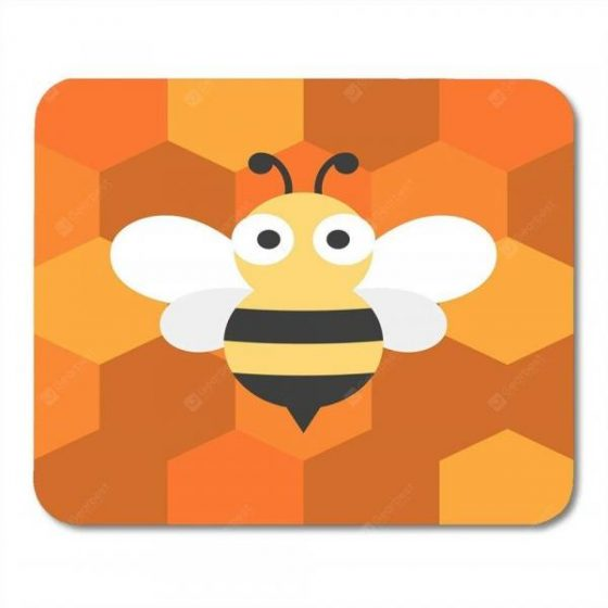 italiaunix-Non Slip Rubber Square  Anti-Water Gaming Cool Yellow Bee Mouse Pad