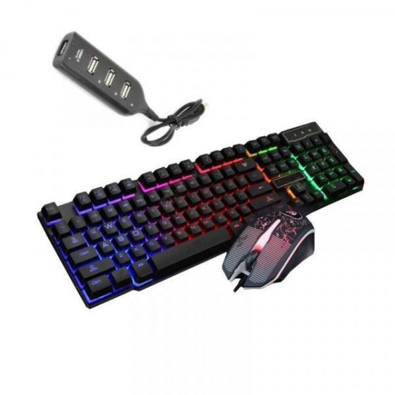 italiaunix-Optical Gaming Keyboard Mouse and HUB Kit 3 Pcs  Gearbest