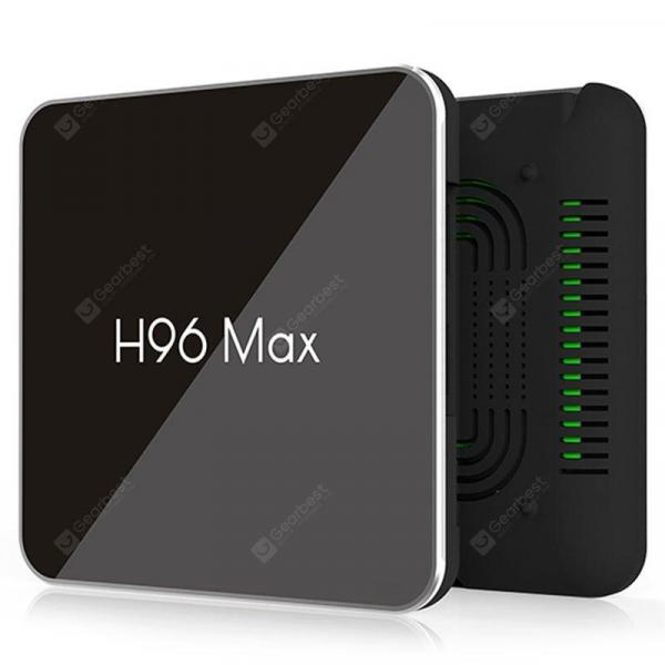 italiaunix-S905X2 H96 Max X2 Android 8.1 TV Box 4+64GB USB3.0 Set Top Box Voice Remote Cont