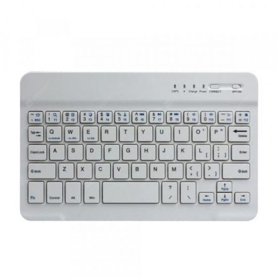 italiaunix-Slim Aluminium Wireless Bluetooth Tablet Keyboard  Gearbest
