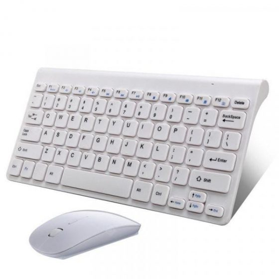 italiaunix-Ultra Slim 2.4G USB Wireless Keyboard and Mouse Set