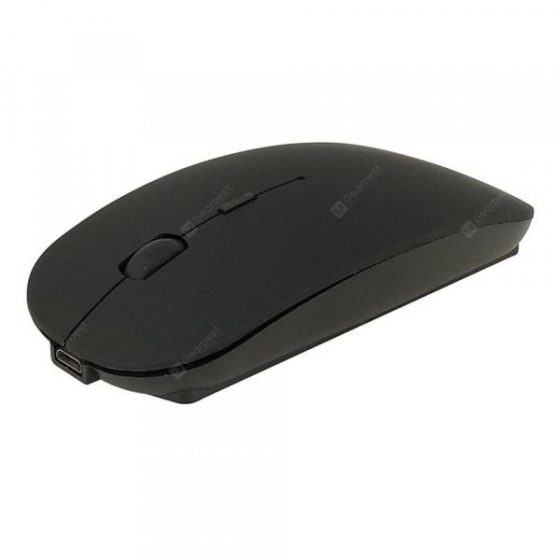 italiaunix-Ultra Thin Mute 2.4G Rechargeable Wireless Mouse