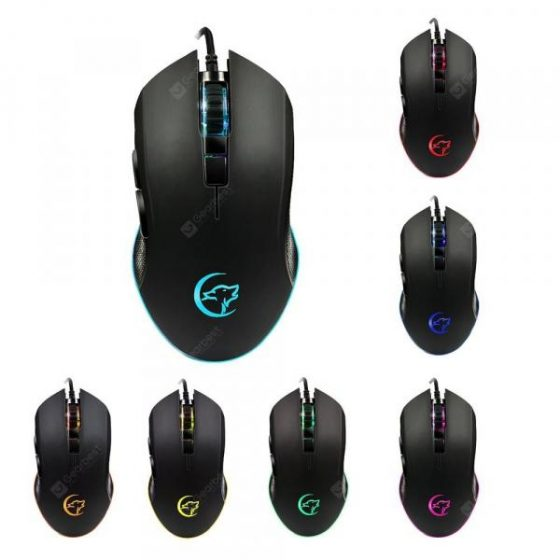 italiaunix-YWYT G812 game mouse dazzling color breathing lights cable game mouse ergonomic