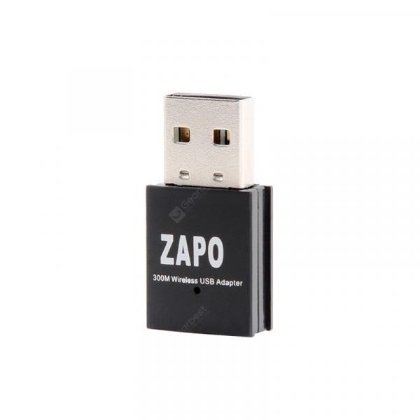 italiaunix-ZAPO W77 300MBPS USB 2.4G WIFI Adapter Wireless 802.11N High Speed Network Card