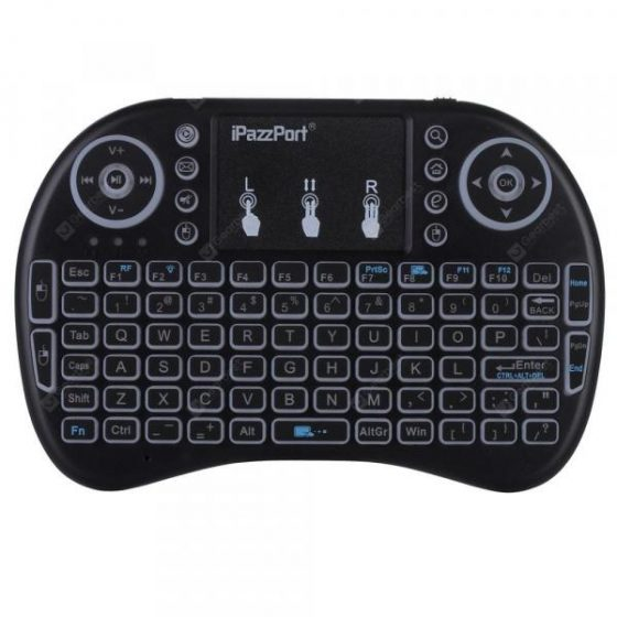italiaunix-iPazzPort KP - 810 - 21DL 2.4G Backlit Wireless Mini Keyboard USB with Touchpad
