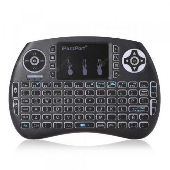 italiaunix-iPazzPort Wireless Mini Spanish Keyboard with Touchpad for Smart TV Linux Mac..