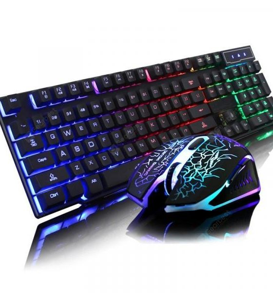 italiaunix-2 Pieces a Set Optical Gaming Keyboard Mouse and Pad Kit  Gearbest