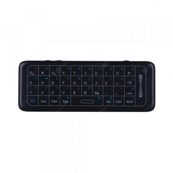 italiaunix-2.4GH Mini German Keyboard Air Mouse with 7colors Backlight TouchPad IR Learning  Gearbest