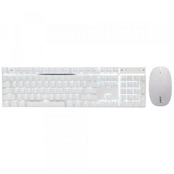 italiaunix-Ajazz A3008 2.4GHz Wireless Rechargeable Mechanical Keyboard Mouse Set