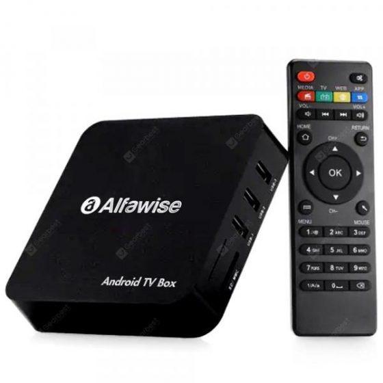 italiaunix-Alfawise A8 TV BOX Rockchip 3229 Android 7.1.2